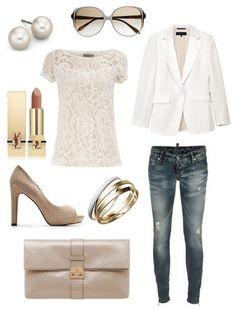 sunglasses: Victoria Beckham / blazer: RagBone / top: Dorothy Perkins /  lipstick: YSL / shoes: Mango / bracelets: Macys / jeans: DSQUARED2 / bag: Mulberry