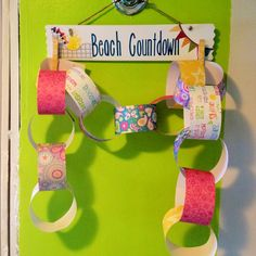I made this cute paper chain and sign for my girls so they can countdown two more weeks til we are shore bound for 10 days!!!
