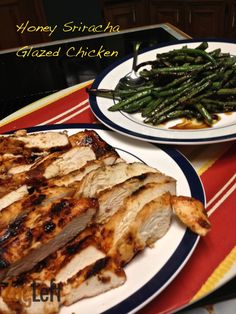 A mixture of BBQ sauce, orange zest, Sriracha sauce, honey, orange juice and stone ground mustard marinade for chicken breasts. Allow breasts to marinate for several hours and then grill.