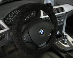 Items similar to Crochet Steering Wheel Cover, Wheel Cozy with a Flower - tea leaf (CSWC 2CCC-F) on Etsy