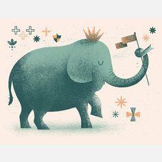 The Kid And Baby Bazaar's King Elephant Print Blue- I love it!