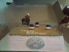 18th Birthday Cake, Horse Birthday, Baby Girl Birthday, Sweet 16 Birthday, 6th Birthday Parties, Birthday Ideas, Cowgirl Cakes, Western Cakes, Sweet 16 Cakes