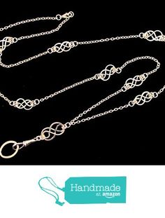 ID Badge Lanyard with Silver Celtic Knots from By Brenda Elaine Jewelry http://www.amazon.com/dp/B018CWWUBO/ref=hnd_sw_r_pi_dp_1-2dxb0XHST3D #handmadeatamazon