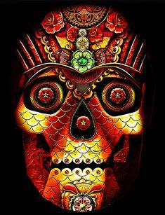 Burning Man wordt dit jaar verlicht door een 10 meter grote schedel | The Creators Project