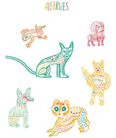 illustrations that Bosque created for the Oaxaca moleskine for Monoblock.