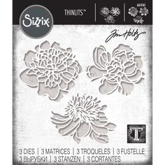 Cut-Out Blossoms Thinlits Dies Tim Holtz Dies, Sizzix Dies, Scrapbook Paper Crafts, Scrapbooking, Die Cut Cards, Print Coupons, Homemade Cards, Diy For Kids, Mini Albums