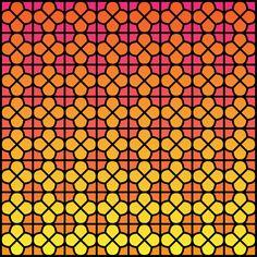 pink and yellow gradation pattern