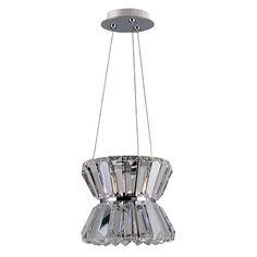 Armanno Chrome One-Light Mini Pendant with Firenze Clear Crystal