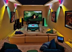 Entertainment room interior design man cave homes, at home movie theater, home movies, Room Interior Design, Interior And Exterior, Mall Design, House Design, Man Cave Homes, At Home Movie Theater, Steampunk House, Home Movies, Diy Entertainment Center