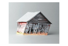 Ofra Lapid - One in a series of broken houses based on photographs of abandoned structures neglected by man and destroyed by the weather.