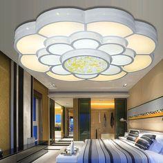Runde Die Wohnzimmerlampe Führte Deckenleuchten Schlafzimmer Decke Lampe  Moderne Und Einfache Deckenlampe Deckenleuchte Esszimmer Elektrodenlose  Beleuchtung ...