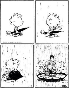 Calvin and Hobbes - the happiest strip ever!
