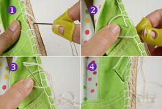 Tutorial Costura: Cómo hacer un par de alpargatas