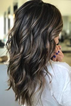 22 Secrets To Short Brown Hair With Highlights And Lowlights Dark 45 Hair Highlights And Lowlights, Black Hair With Highlights, Hair Color Highlights, Hair Color For Black Hair, Hair Color Balayage, Dark Brown Hair With Highlights And Lowlights, Balayage Hair Dark Black, Full Highlights, Caramel Highlights