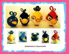 Quilling - angry bird
