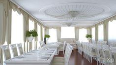 Банкетный зал в частном доме: интерьер, квартира, дом, ар-деко, 1000 - 3000 м2, студия #interiordesign #apartment #house #artdeco #1000_3000m2 #studio #atelier arXip.com