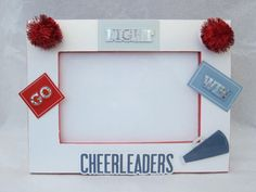 Take a picture of the team and have everyone sign it for coach! Cheer Coach Gifts, Cheer Coaches, Cheer Mom, Homemade Picture Frames, 4x6 Picture Frames, Cheer Stuff, Cheerleading, Cheers, Coaching