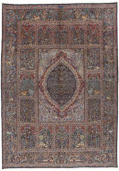 Kerman - Lavar 430x305 - CarpetU2 Las características de estas alfombras son los colores brillantes y las bonitas flores con los medallones. Las lanas en la región de Kirman son de muy buena calidad con un carácter graso que las hace muy brillantes