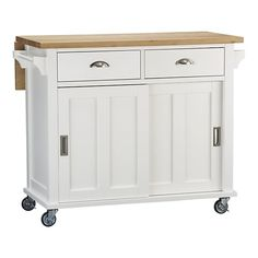 Anybody who needs extra kitchen space would like this practical unit which can be wheeled around found @ Crate & Barrel.