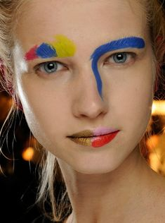 Crazy, colorful and downright insanity make up by MAC for London designer…