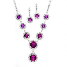 Rhinestone Necklace Sets With Framed  - $36.99