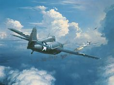 Buy online, view images and see past prices for William S. Phillips…When You See Zeros,fight Em. Invaluable is the world's largest marketplace for art, antiques, and collectibles. Ww2 Aircraft, Military Aircraft, Grumman Aircraft, Military Art, Military History, Aircraft Painting, Airplane Art, Space Museum, Nose Art