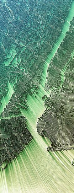 Map of Venice (detail) Map of Tokyo Map of Rio de Janeiro Map of New York Flowing City Map: Illustrations by Chaotic Atmospheres Conceptual illustrations of city maps showing erosion flow that...