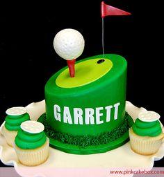 Cupcake Topper Golf Tee Cake