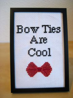 Cross Stitch Pattern - Bow Ties are Cool - Doctor Who - INSTANT DOWNLOAD on Etsy, $4.00