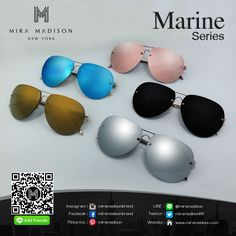 Marine Series  - 5 Color  Pink Black Silver Gold Blue Sky