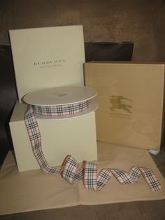 """NEW! Authentic Burberry Nova Check Fabric Ribbon, Sold by the foot, Customizable 1"""" wide x ? by theblackdoordecor on Etsy https://www.etsy.com/listing/210537010/new-authentic-burberry-nova-check-fabric"""