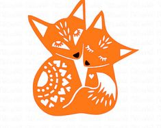 Foxes cuddling SVG PNG DXF digital cutting file/folk style fox svg/fox svg/fox mandala/woodland animal/fox papercutting template - Trend Design Home App 2019 Fuchs Silhouette, Silhouette Studio, Fox Silhouette, Paper Art, Paper Crafts, Scandinavian Folk Art, Fox Art, Cute Fox, Silhouette Cameo Projects