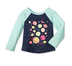 Toddler Girls' Graphic Planets T-Shirt Blue. Cat and Jack from Target.