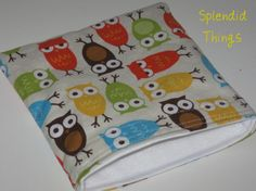 reusable snack bag ~ owl