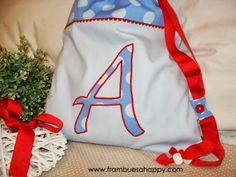 BOLSA DE MERIENDA: Un regalo para el pequeño Antonio. | FRAMBUESA HAPPY