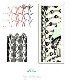 (2012-05) Palms zentangle pattern