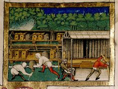 Beekeepers. Italian 15th cent.. Bodl Rawl.G.9 | Flickr - Photo Sharing!