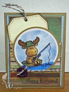 Happy Birthday with Riley Moose by sasha728 - Cards and Paper Crafts at Splitcoaststampers