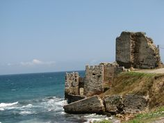 The remains of the historical Sinop Fort - Sinop, Turkey