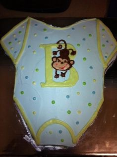 Monkey baby cake for baby shower