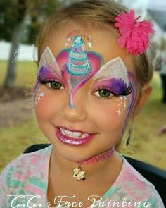 Ideas for a unicorn party for children's birthday: unicorn face painting for girls. # unicorn Ideas for a unicorn party for children's birthday: unicorn face painting for girls. Face Painting Unicorn, Girl Face Painting, Face Painting Designs, Painting For Kids, Paint Designs, Face Paintings, Painting Art, Easy Face Painting, Belly Painting