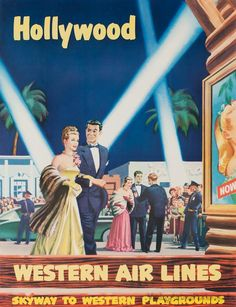 CALIFORNIA Los Angeles, Hollywood, Vintage Travel poster - USA Vintage style travel poster