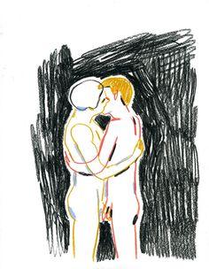 édith carron journal, kiss