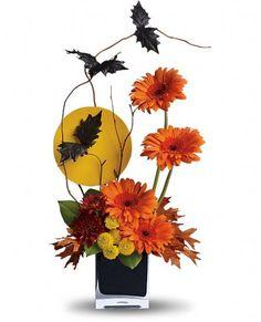 Teleflora's Boo-tiful Bats Flowers - Great idea for a paper flower arrangement