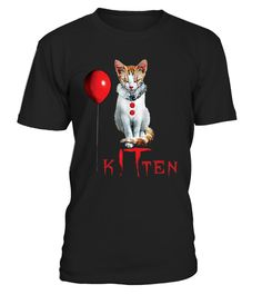 # Clown Cat Kitten IT Halloween T-Shirt .  CHECK OUT OTHER AWESOME DESIGNS HERE!                              Meow, Halloween Shirt, October 31st, Funny Cats, Clown Kitten, Kitty  Great for birthday, halloween, christmas or any occasion!