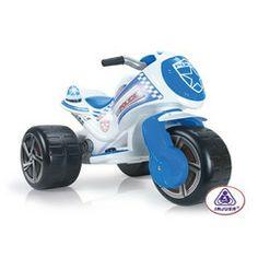 Injusa Kids Ride on Electric Waves Police Trimoto Bike - 6v   maisies toys