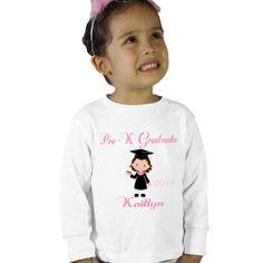 Personalized PreK Graduate Girl PreKindergarten by shirtsbynany, $14.99