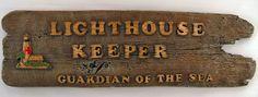 Lighthouse Bathroom Decor | Lighthouse Keeper Sign is Outdoor Lighthouse Decor