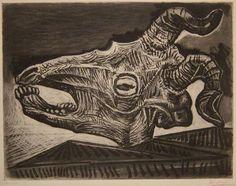 Pablo Picasso // Skull of a Goat on a Table, 1952
