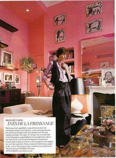 Ines de la Fressange Does Pink